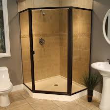 semi frameless shower enclosures california reflections large semi frame less neo enclosure in oil rubbed bronze