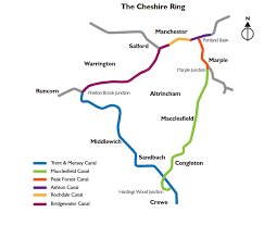 Cheshire England Map by The Cheshire Ring Touring The British Waterways
