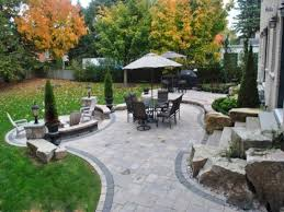 exterior beautiful backyard landscaping with backyard patio ideas