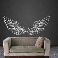 angel wings wall decal vinyl sticker decals bird god big wings