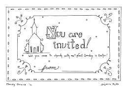 easter sunday invitation coloring pages u2014 sojournkids