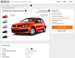 volkswagen vehicles list seller api documentation
