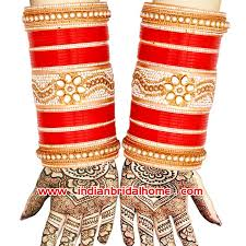 Indian Wedding Chura Indian Wedding Chura Kundan Stones Red Golden Bridal Bangles In