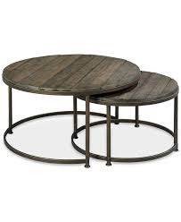 coffee table contemporary nesting coffee table round nesting