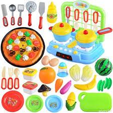 jeu de cuisine enfant jeux en plastique itechor 68pcs jouet enfant de fruits et légumes