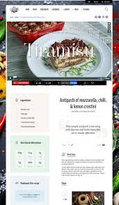 site recettes cuisine neptune un thème pour site web de recettes de cuisine