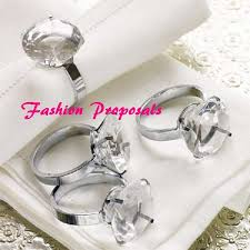 ring holder for wedding 48 diamond gem silver napkin ring bling napkin