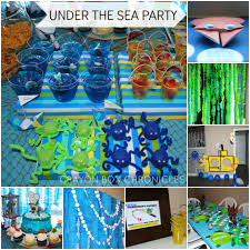 the sea party the sea birthday party crayon box chronicles