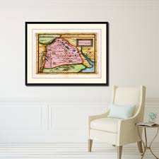 Vintage Home Interior Products Tucuman Argentina Buenos Aires Vintage Antique Map Wall Art