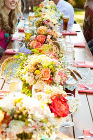 boho chic modest shabby chic barn california centerpieces country
