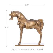best and cheap golden tomfeel surrealism horse resin sculpture