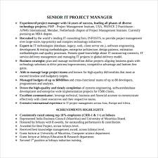Project Manager Example Resume by Sample Project Manager Resume 7 Documents In Pdf Word