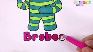 how to draw brobee from yo gabba gabba coloring pages learn
