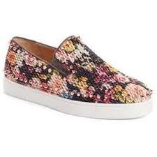 christian louboutin multicolor pik boat quilted floral tissu spike