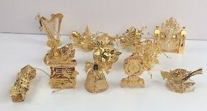 danbury mint 1999 23k gold christmas ornaments collection complete