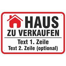 Ein Haus Verkaufen Haus Zu Verkaufen Schild Oder Aufkleber Mit Ihrem Wunschaufdruck