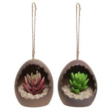 Hanging Ceramic Planter by Lawn Garden Attractive Set Of 3 Hanging Ceramic Planters High