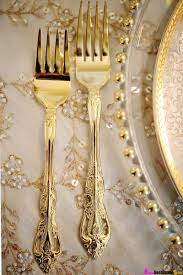 set the table in style u2013 gold cutlery