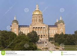 Iowa State Capitol by Golden Dome Of Iowa State Capital Building Editorial Stock Image