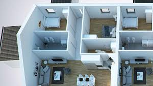 3d Floor Plan Online by Floor Plans In 3d On With Residential Loft Plan Printing Of House