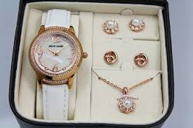 ladies necklace watch images Pierre cardin ladies 39 watch necklace and earrings gift set jpg