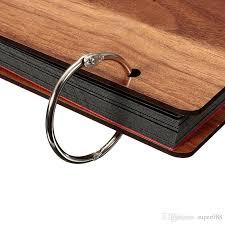 Binder Photo Album High Quality Metal Loose Leaf Book Binder Hinged Rings Keychain