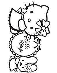kitty birthday coloring pages coloring