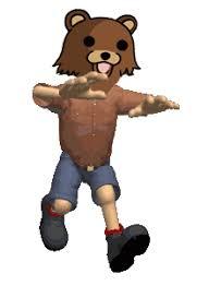 Running Bear Meme - transparent scared gif find download on gifer