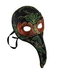 plague doctor halloween costume black plague doctor style long curved nose fancy carnival mask
