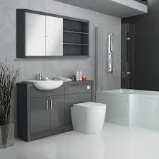 fitted bathroom ideas hacienda fitted furniture pack grey buy at bathroom city