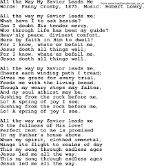 Comfort Me Lyrics All The Way My Savior Leads Me By Crosby Hymn Lyrics