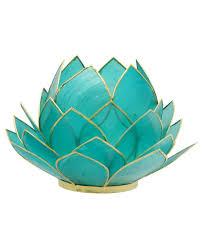 blue tea light candles turquoise tealight candle holder lotus tea light holder capiz