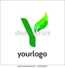 y letter logo vector green alphabet stock vector 639396385