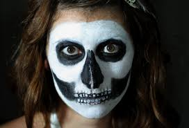 Skeleton Face Painting For Halloween by On My Honor Diy Skeletor Skin