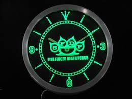 Garden Wall Clocks by 5fdp Five Finger Death Punch Led Wall Clock U2013 Vintagily