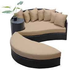Outdoor Sofa Bed Zen Circular Sun Bed Tan Transitional Outdoor Sofas By