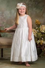 dress for communion silk communion dress white traditional baptism flower girl dresses