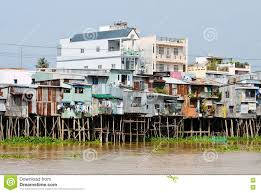 floating houses floating houses on the hau river in chaudok vietnam editorial