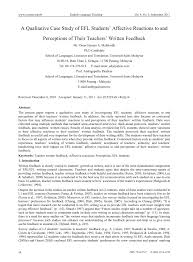 writing a case analysis paper a qualitative case study of efl students affective reactions to a qualitative case study of efl students affective reactions to and perceptions of their teachers written feedback pdf download available