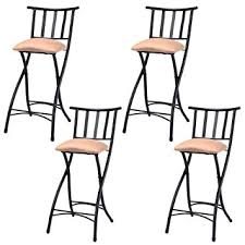 amazon counter height table amazon com costway set of 4 folding bar stools counter height
