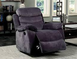 Fabric Recliner Chair Freya Grey Fabric Recliner Sofa