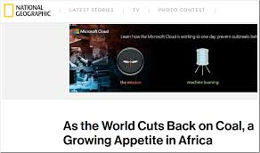 Technology At Home As The World Cuts Back On Coal A Growing Appetite In Africa Not