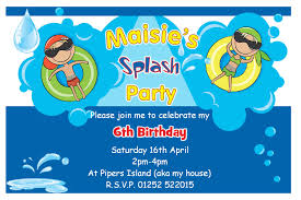 Make Your Own Invitation Cards Free Birthday Pool Party Invitations Theruntime Com