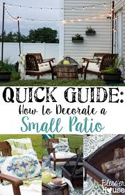 Decorate Small Patio How To Decorate A Small Patio Bless U0027er House