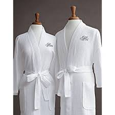 his and hers items luxor linens cotton his hers waffle robes