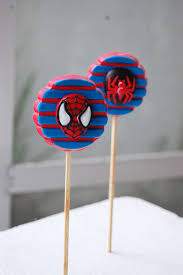 spiderman chocolate oreo pops flickr