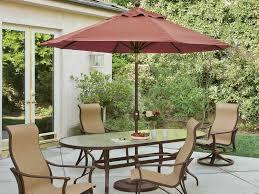 Portofino Patio Furniture Tropitone Portofino Ii 9 U0027 Aluminum Market Crank Umbrella Qo009tkd