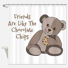 Teddy Shower Curtain Chocolate Teddy Shower Curtains Cafepress