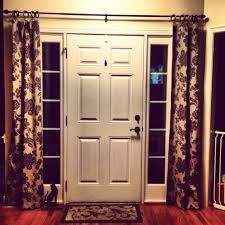 Side Window Curtain Rods Decorations Sidelight Window Treatments To Improve Energy
