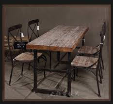 iron wood table desk bench retro american country nordic coffee